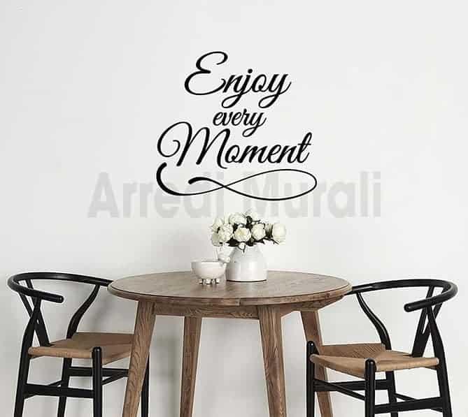 adesivi murali frase enjoy arredo