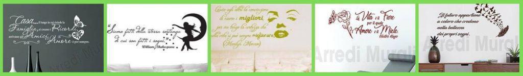 adesivi murali frasi aforismi citazioni