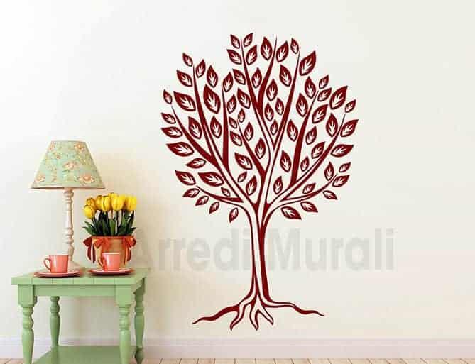 decorazioni murali albero stilizzato