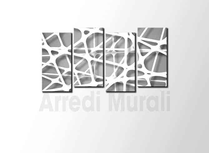 Quadri moderni linee astratti in arte digitale