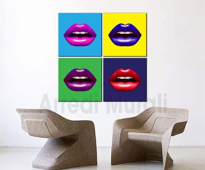 quadri moderni pop art arredo