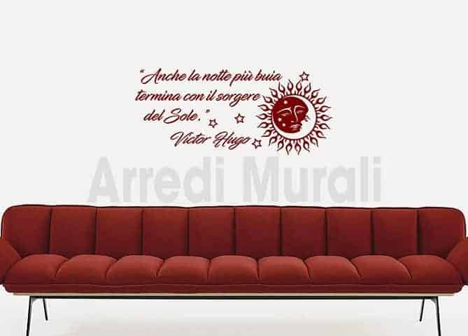 stickers murali frase Victor Hugo