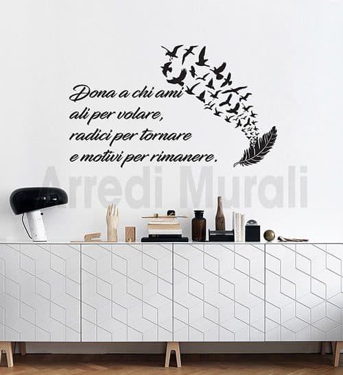 stickers murali frasi personalizzate