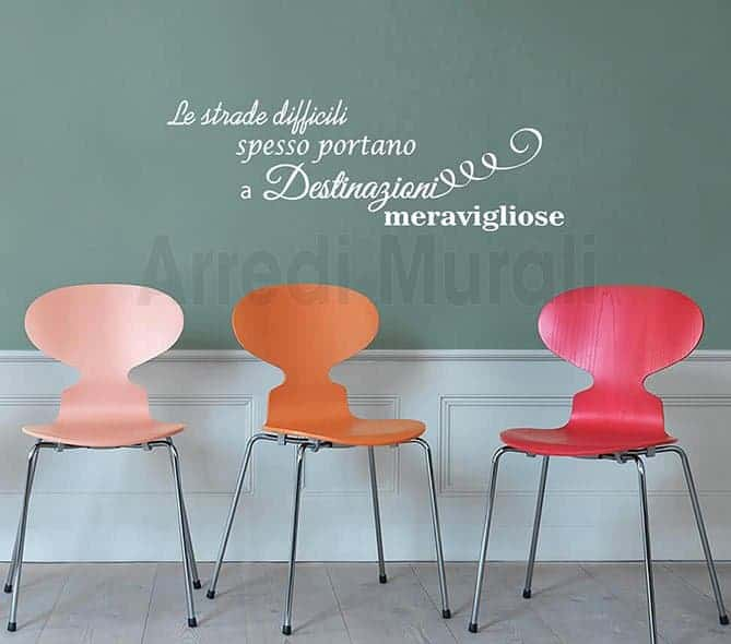wall stickers decorazioni frase motivazionale