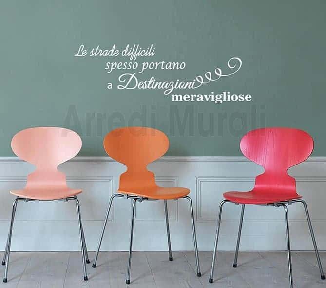 wall stickers decorazioni frase motivazionale