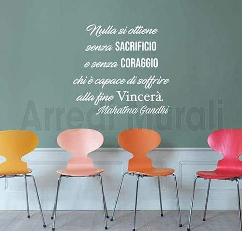 wall stickers frase Gandhi