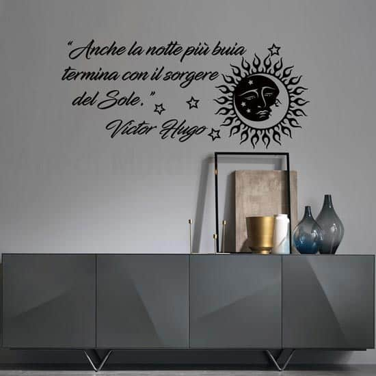 Wall sticker con aforisma di Hugo colore nero