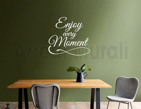 wall stickers frase enjoy arredo