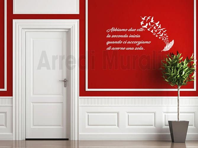 wall stickers frasi personalizzate