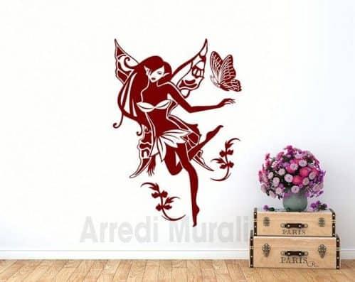 Adesivi murali fatina stickers decorativo da muro