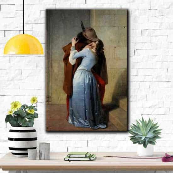 Riproduzione quadro famoso Il bacio di Francesco Hayez