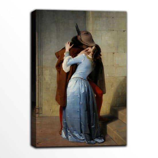 Riproduzione d'autore Il bacio di Francesco Hayez quadro stampa senza cornice