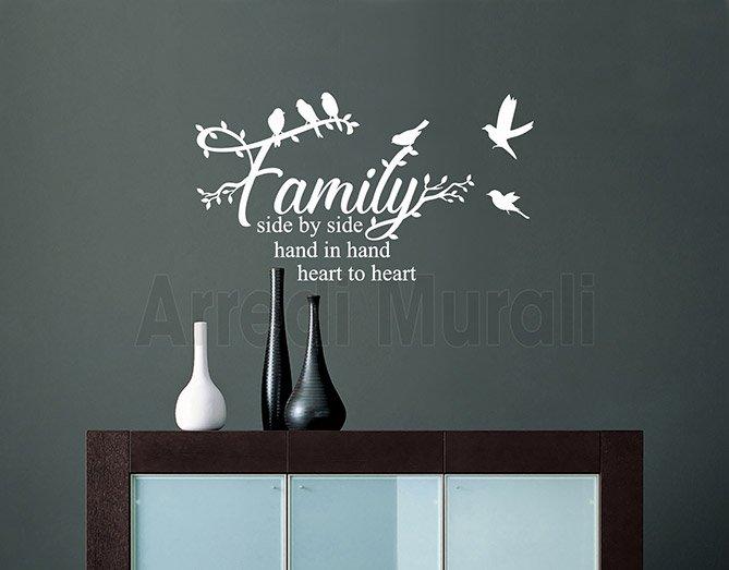 Scritte adesive murali frase famiglia