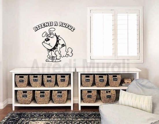 Stickers decorativi con nome del cane personalizzato