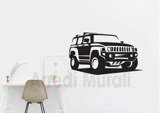 adesivi murali auto Hummer