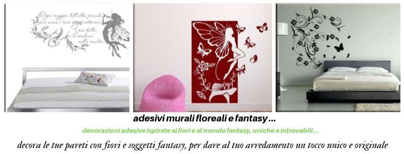 adesivi murali floreali e fantasy decorazioni da parete