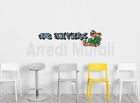 adesivi murali graffito con scritte