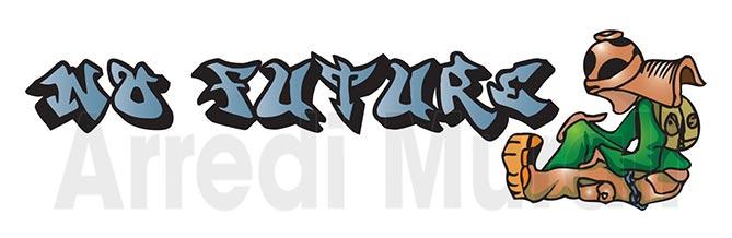adesivi murali con scritta no future