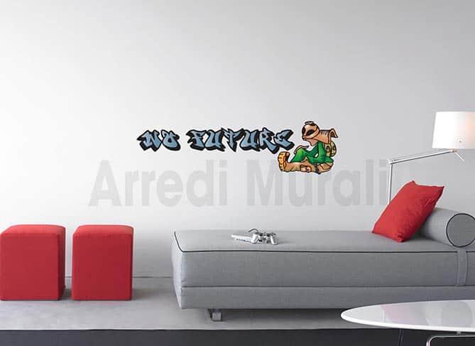 adesivi murali graffito no future