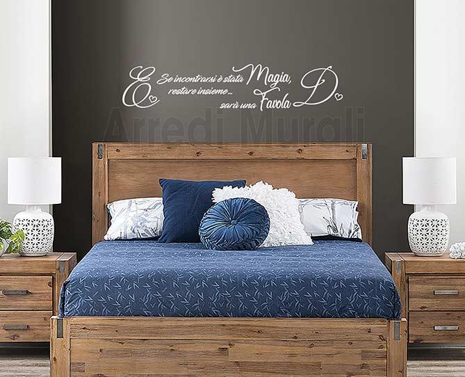 decorazioni adesive personalizzate camera da letto