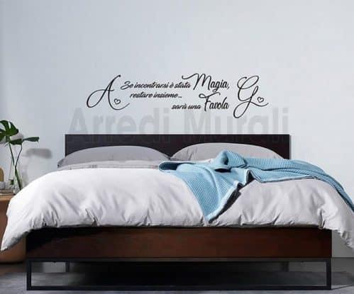 decori adesivi personalizzati camera da letto