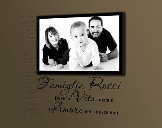 quadro famiglia con adesivo murale personalizzato