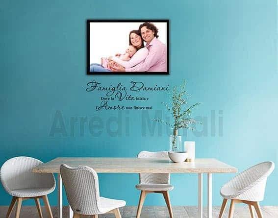quadro moderno famiglia con stickers murali personalizzati