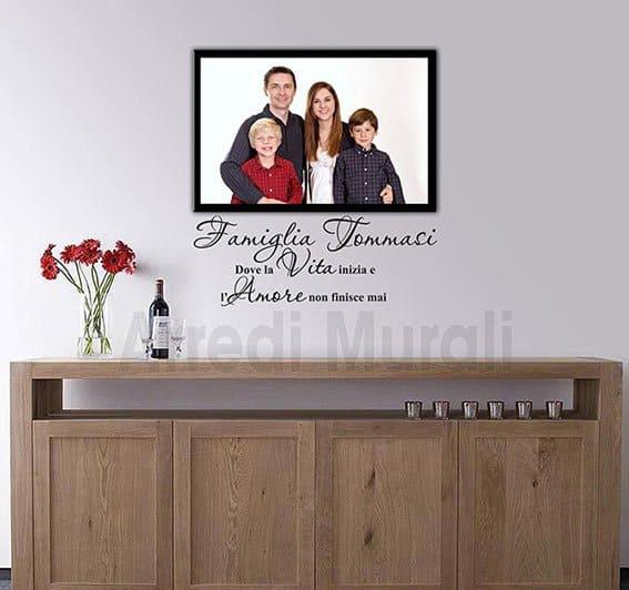 quadro famiglia con wall stickers personalizzati