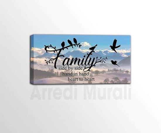 quadro moderno frase famiglia