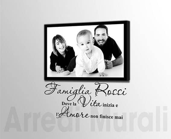 quadro moderno personalizzato adesivi murali famiglia
