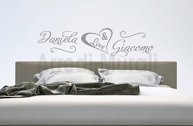 scritte adesive nomi personalizzati camera da letto