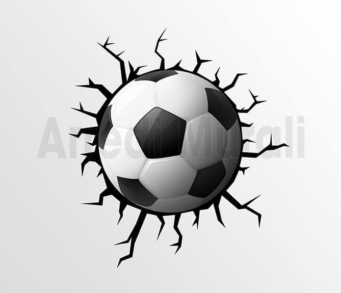 stickers calcio cameretta bimbo adesivi murali trompe l'oeil