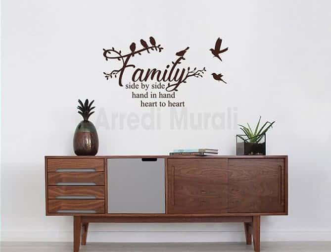 stickers frase famiglia