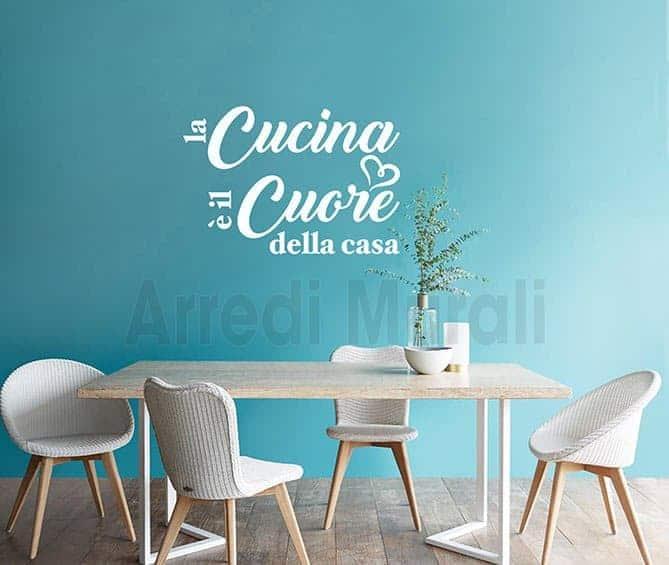 stickers murali frase cucina