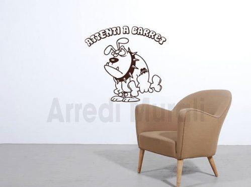stickers murali personalizzati nome cane