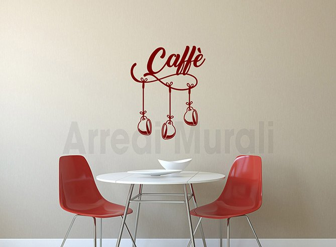 wall stickers arredo bar tazzine caffe