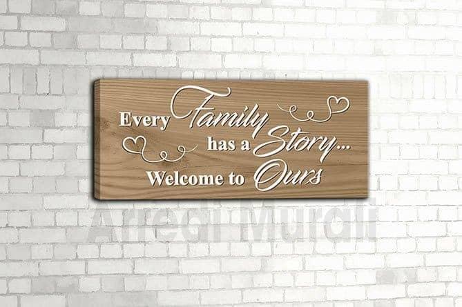 quadro frase famiglia per decorazioni casa