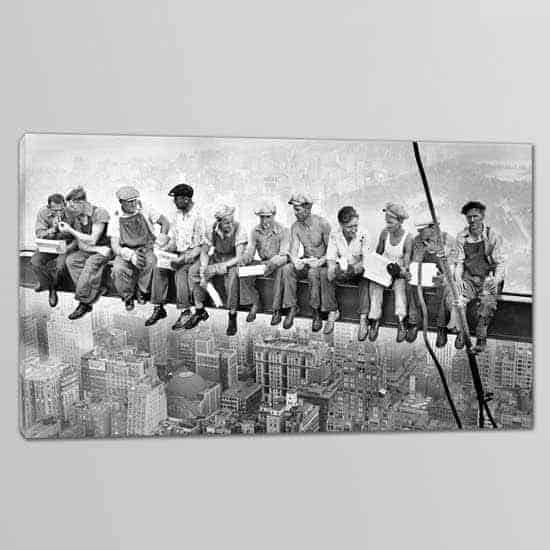 Quadri moderni operai Rockefeller Center riprodotta su tela