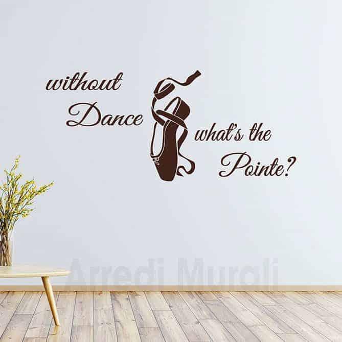 adesivi parete frase danza