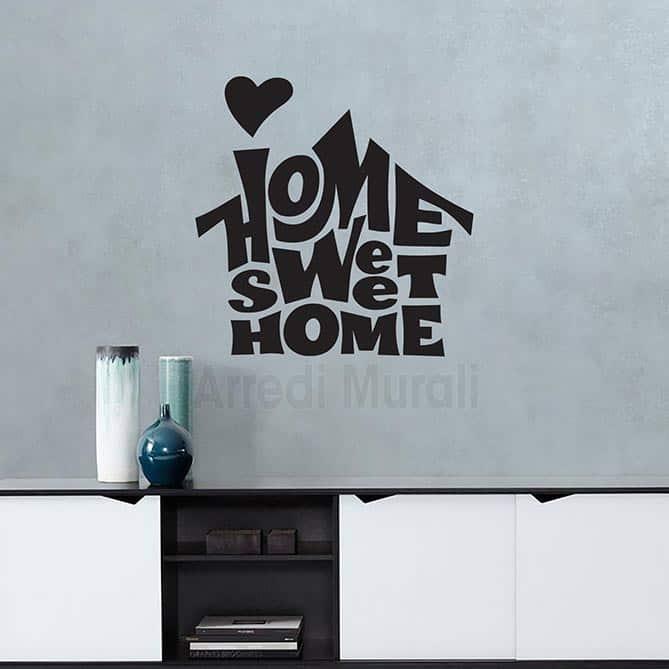 home sweet home scritta da muro adesiva