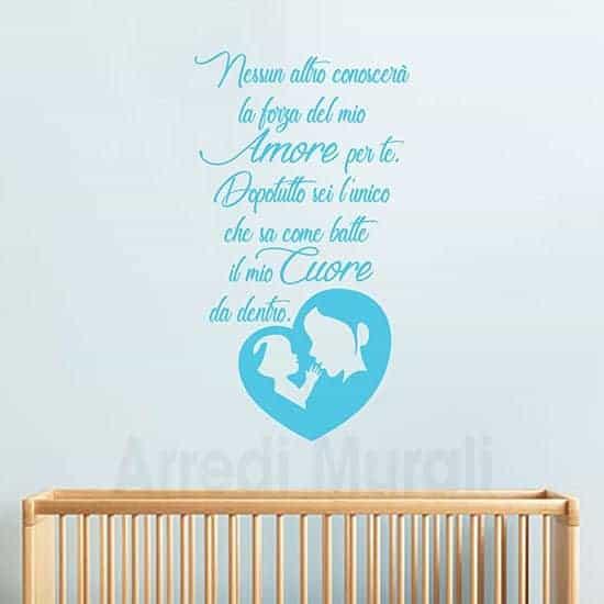 stickers murali frase mamma azzurro