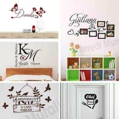 adesivi murali con nomi personalizzati per arredare qualsiasi ambiente della casa