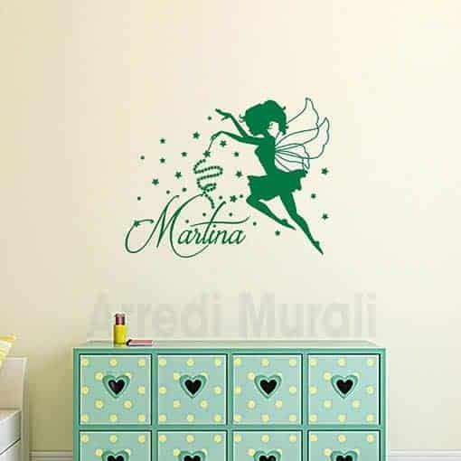 Adesivi Murali Cameretta Bimba.Stickers Cameretta Bimba Con Fatina E Nome Personalizzato Arredi