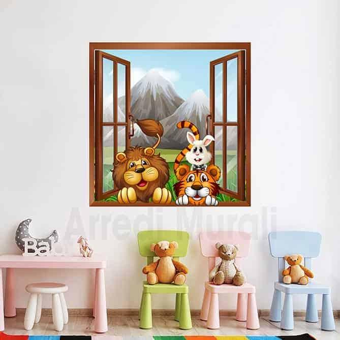 adesivi murali camerette bambini disegno colorato