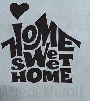 home sweet home scritte in sticker murali