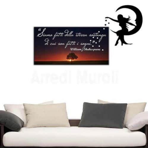 quadro frase Shakespeare adesivi murali decoro camera da letto