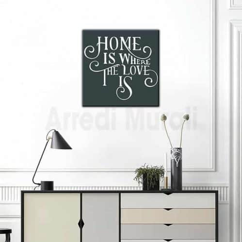quadro frase casa moderna