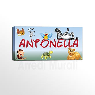 quadro personalizzato con nome bambini per arredare la cameretta