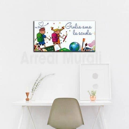 quadro moderno personalizzato bambini per cameretta con nome bimbi