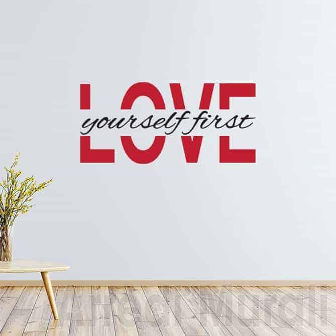 scritte adesive per pareti love